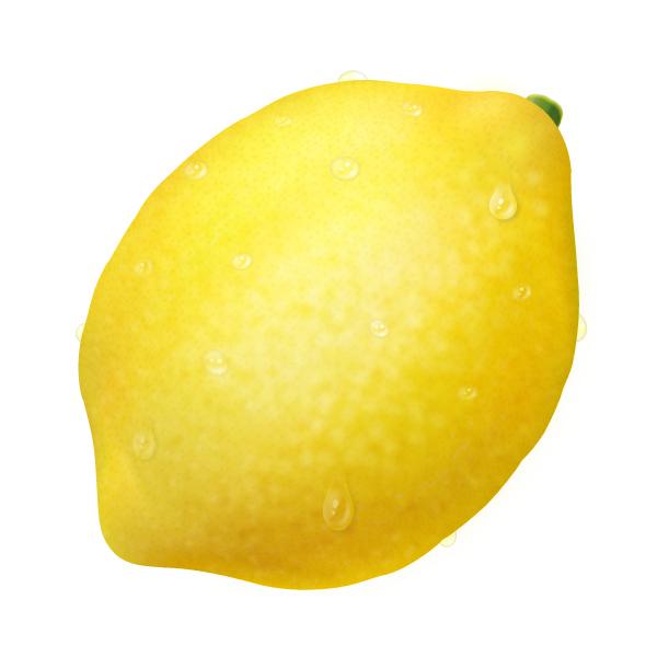 レモンと水滴